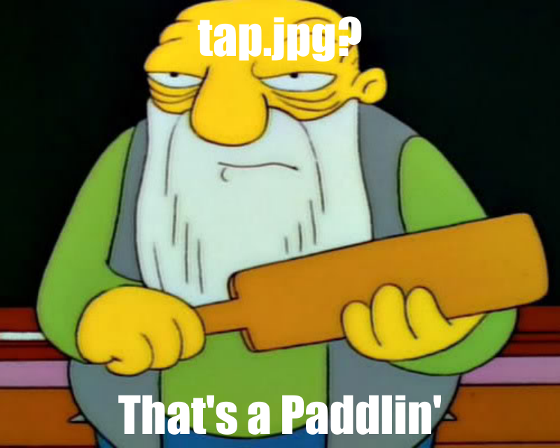 Alt-text? That's a paddlin'